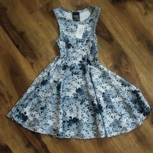 NWT Terez silver star skater twirly dress
